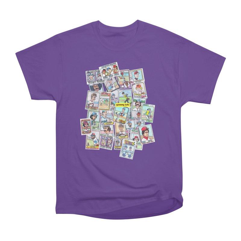 Baseball Cards Women's Heavyweight Unisex T-Shirt by The Gummy Arts Shop