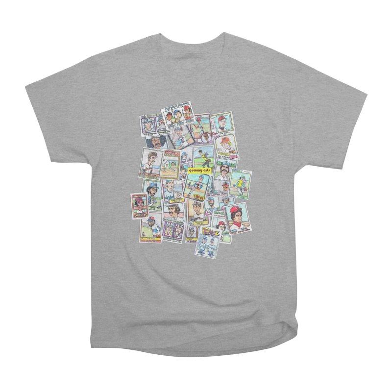 Baseball Cards Men's Heavyweight T-Shirt by The Gummy Arts Shop