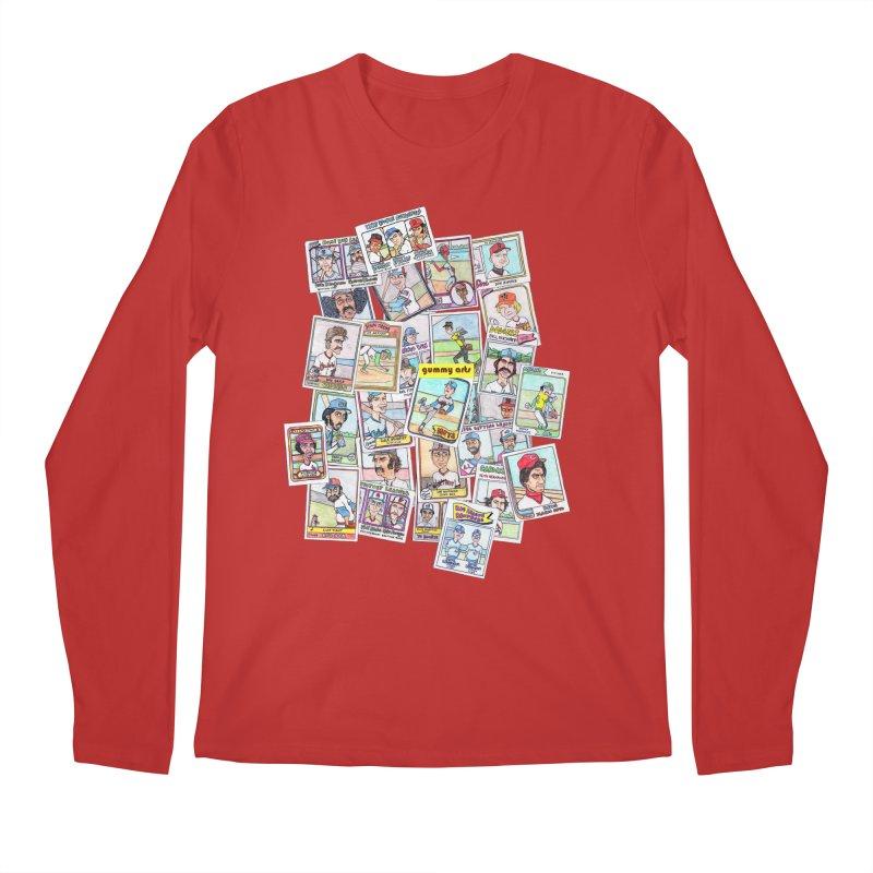 Baseball Cards Men's Longsleeve T-Shirt by The Gummy Arts Shop