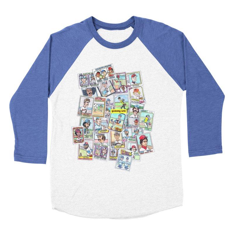 Baseball Cards Men's Baseball Triblend T-Shirt by The Gummy Arts Shop