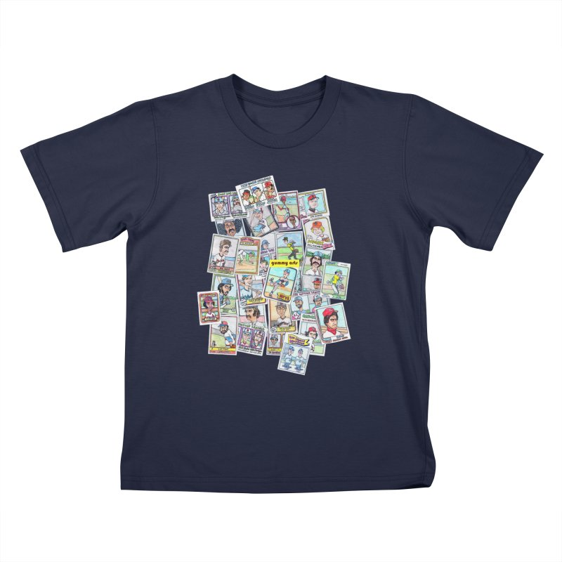 Baseball Cards Kids T-Shirt by The Gummy Arts Shop