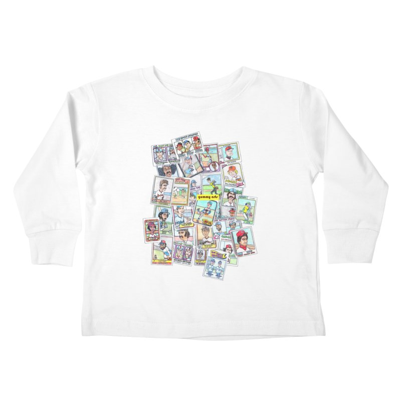 Baseball Cards Kids Toddler Longsleeve T-Shirt by The Gummy Arts Shop