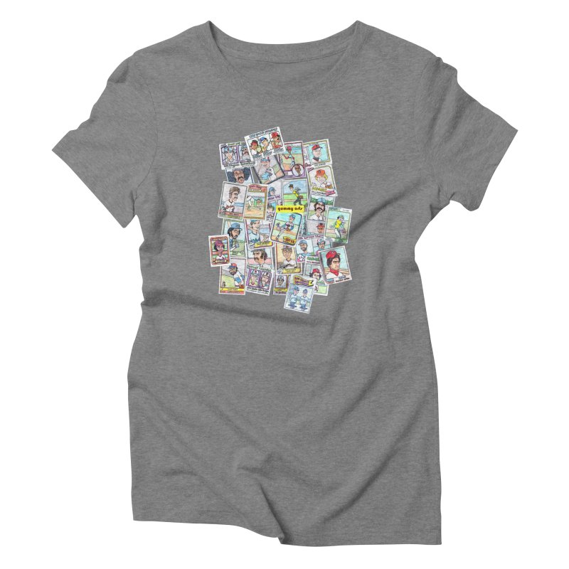 Baseball Cards Women's Triblend T-Shirt by The Gummy Arts Shop