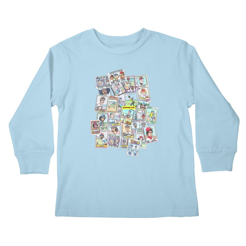 Baseball Cards Kids Longsleeve T-Shirt by The Gummy Arts Shop