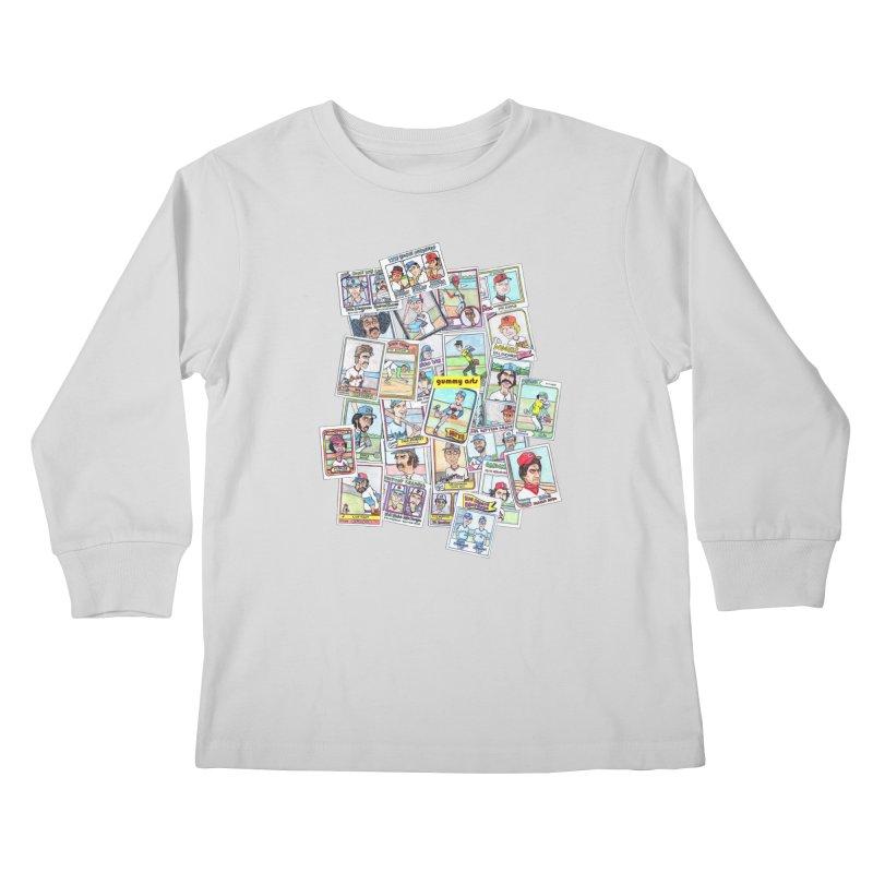 Baseball Cards Kids Longsleeve T-Shirt by The Gummy Arts Shop