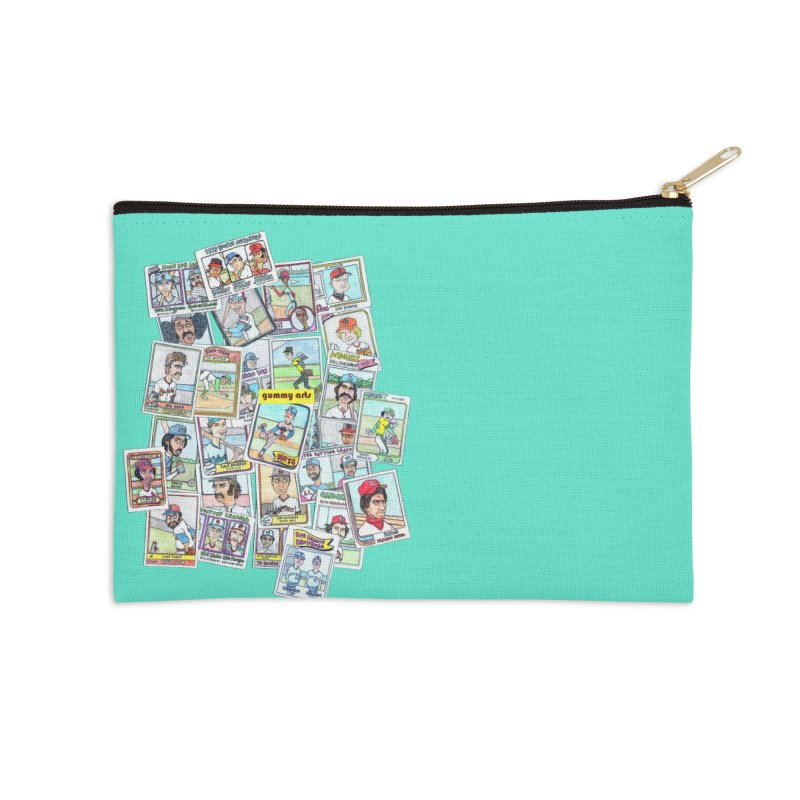 Baseball Cards Accessories Zip Pouch by The Gummy Arts Shop