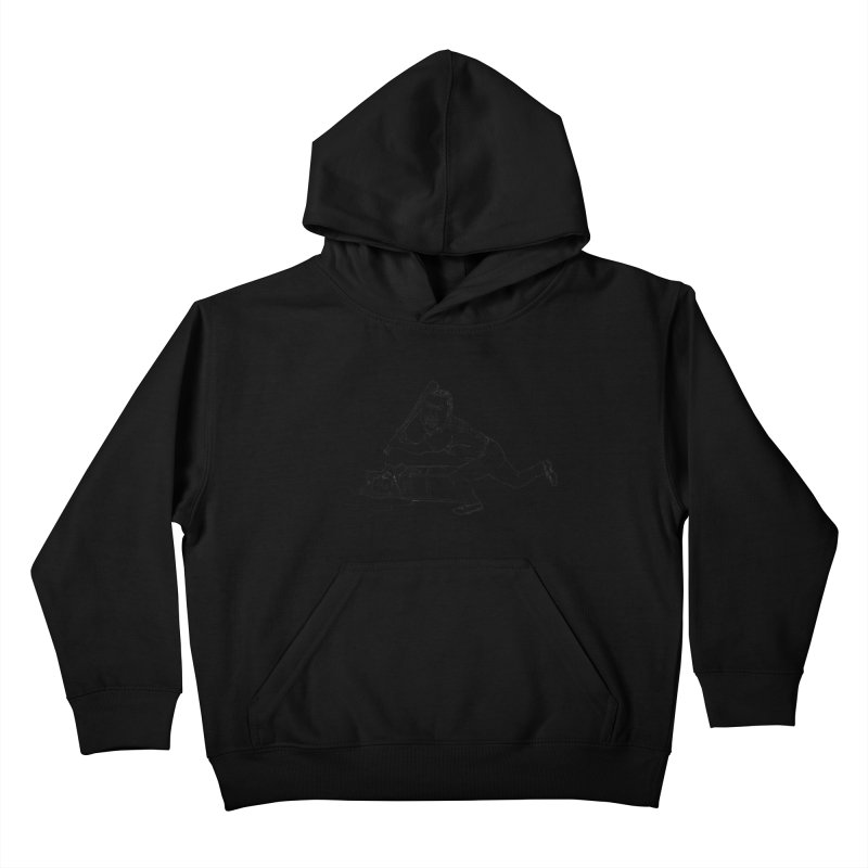 Zambrano (outline) Kids Pullover Hoody by The Gummy Arts Shop