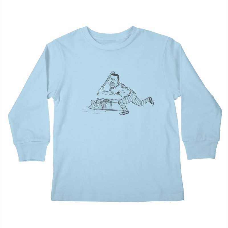 Zambrano (outline) Kids Longsleeve T-Shirt by The Gummy Arts Shop