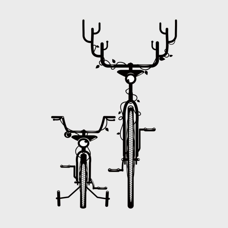 Deer Bicycle None  by gums's Artist Shop