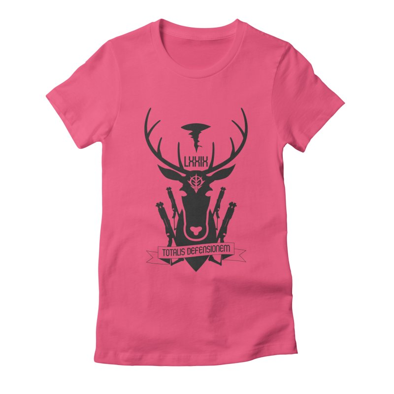 Total Defense of A Bao A Qu Women's Fitted T-Shirt by GundamUK's Store!