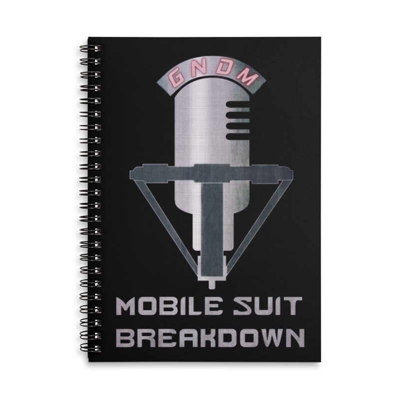 Radio Free Earth Sphere Accessories Lined Spiral Notebook by Mobile Suit Breakdown's Shop