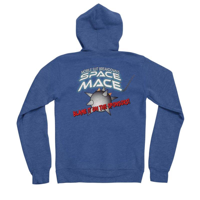 Mighty Space Mace Women's Sponge Fleece Zip-Up Hoody by Mobile Suit Breakdown's Shop