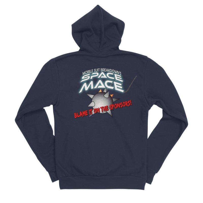 Mighty Space Mace Men's Sponge Fleece Zip-Up Hoody by Mobile Suit Breakdown's Shop
