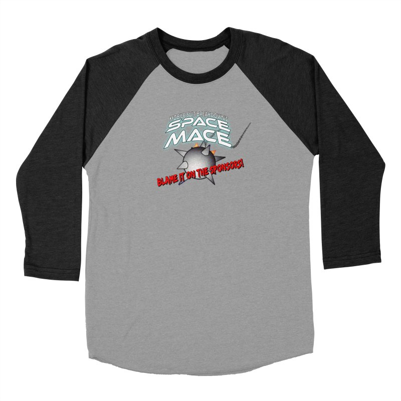 Mighty Space Mace Women's Baseball Triblend Longsleeve T-Shirt by Mobile Suit Breakdown's Shop