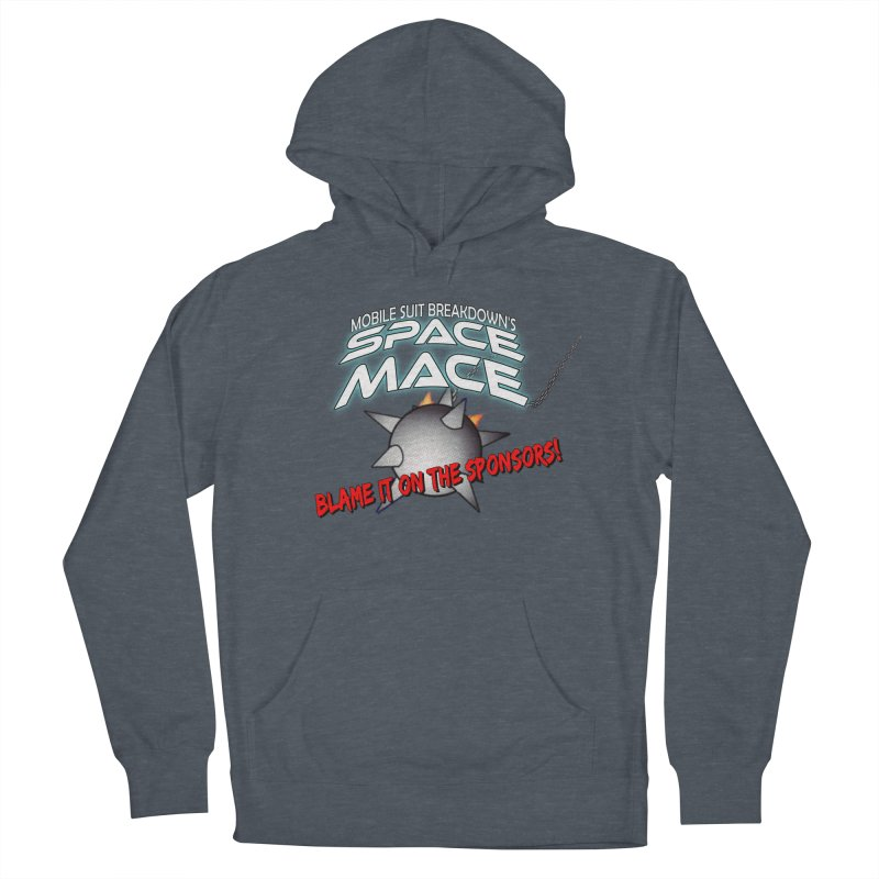 Mighty Space Mace Women's French Terry Pullover Hoody by Mobile Suit Breakdown's Shop