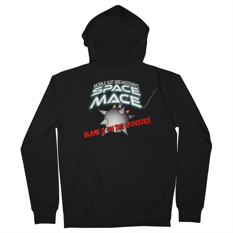 Mighty Space Mace Men's French Terry Zip-Up Hoody by Mobile Suit Breakdown's Shop