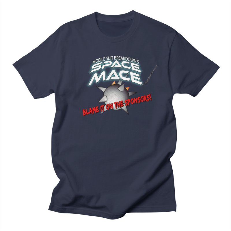 Mighty Space Mace Men's Regular T-Shirt by Mobile Suit Breakdown's Shop