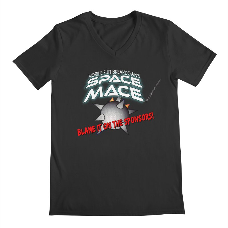 Mighty Space Mace Men's Regular V-Neck by Mobile Suit Breakdown's Shop