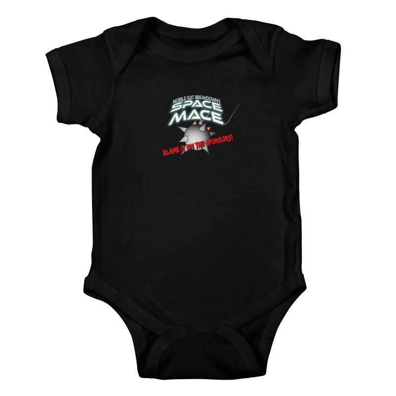 Mighty Space Mace Kids Baby Bodysuit by Mobile Suit Breakdown's Shop