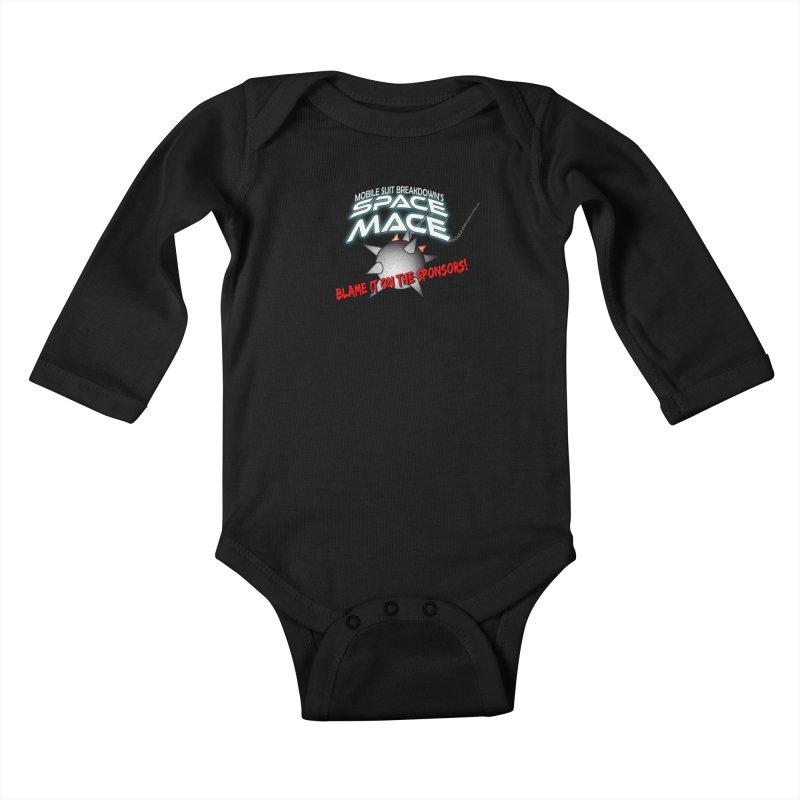 Mighty Space Mace Kids Baby Longsleeve Bodysuit by Mobile Suit Breakdown's Shop