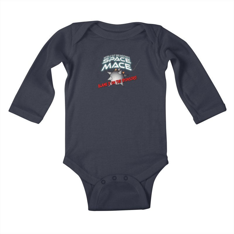Mighty Space Mace Kids Baby Longsleeve Bodysuit by Mobile Suit Breakdown's Shop