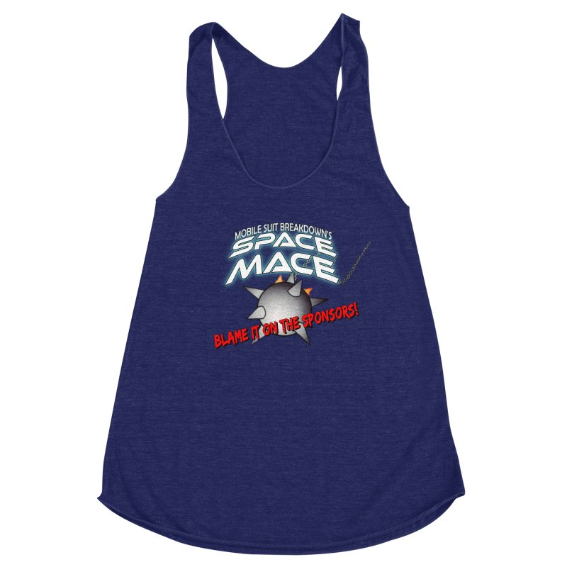 Mighty Space Mace Women's Racerback Triblend Tank by Mobile Suit Breakdown's Shop