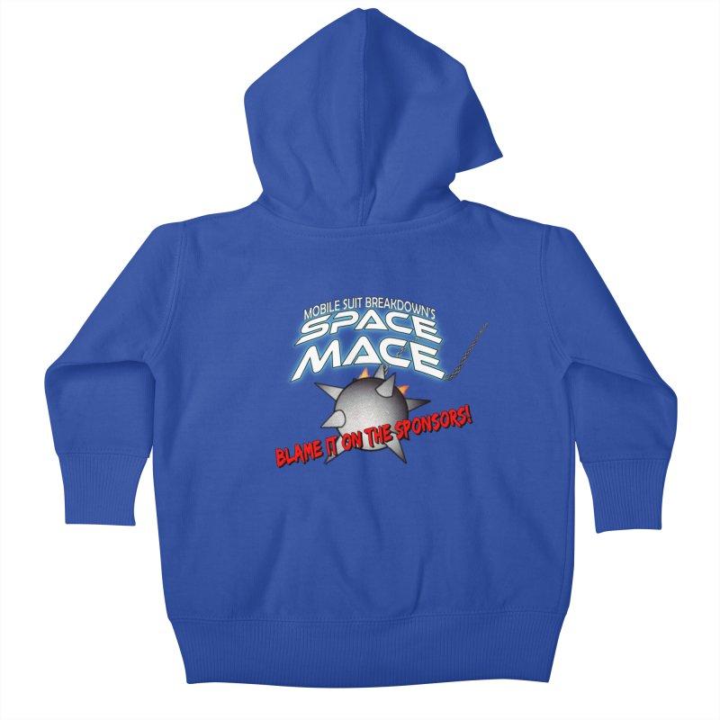 Mighty Space Mace Kids Baby Zip-Up Hoody by Mobile Suit Breakdown's Shop