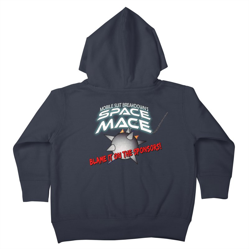 Mighty Space Mace Kids Toddler Zip-Up Hoody by Mobile Suit Breakdown's Shop