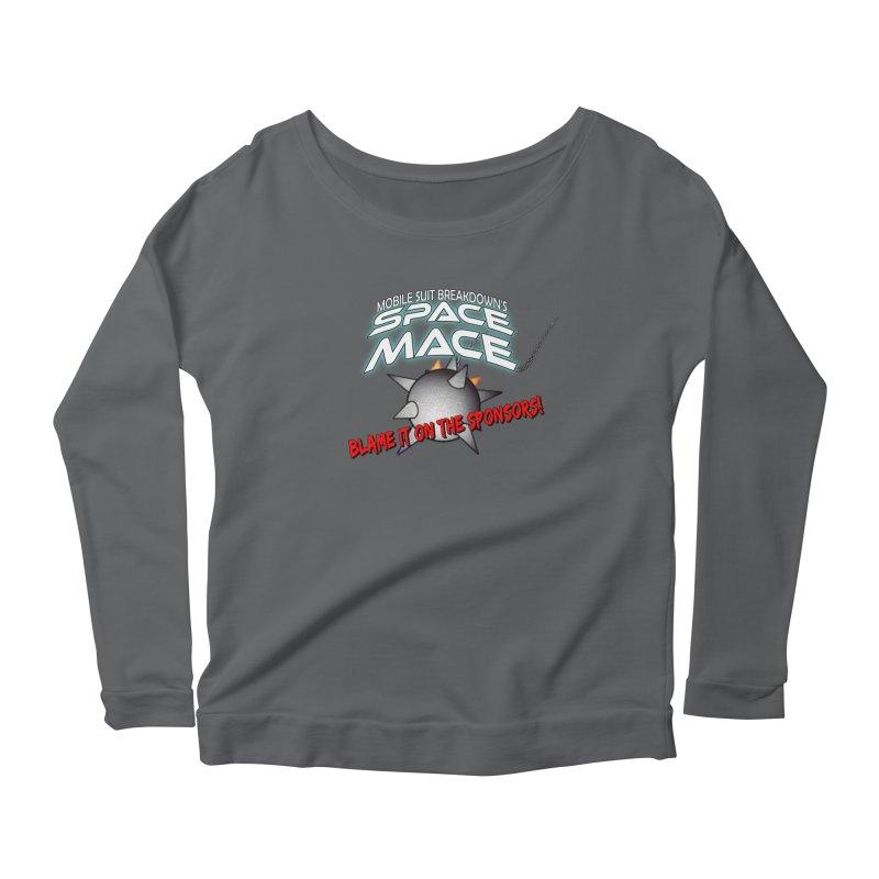 Mighty Space Mace Women's Scoop Neck Longsleeve T-Shirt by Mobile Suit Breakdown's Shop