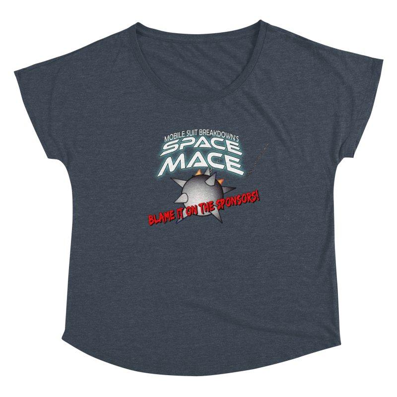 Mighty Space Mace Women's Dolman Scoop Neck by Mobile Suit Breakdown's Shop