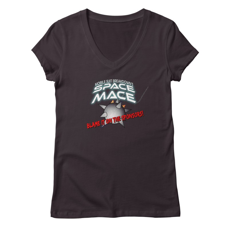 Mighty Space Mace Women's Regular V-Neck by Mobile Suit Breakdown's Shop