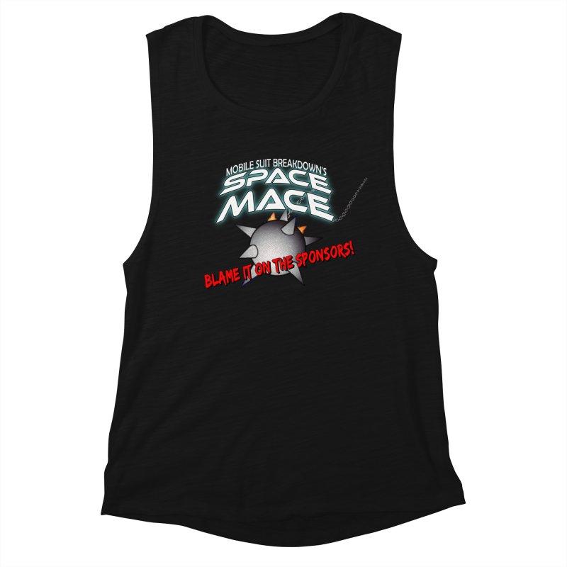 Mighty Space Mace Women's Muscle Tank by Mobile Suit Breakdown's Shop