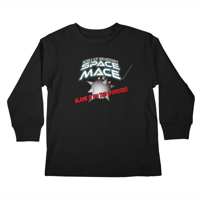 Mighty Space Mace Kids Longsleeve T-Shirt by Mobile Suit Breakdown's Shop