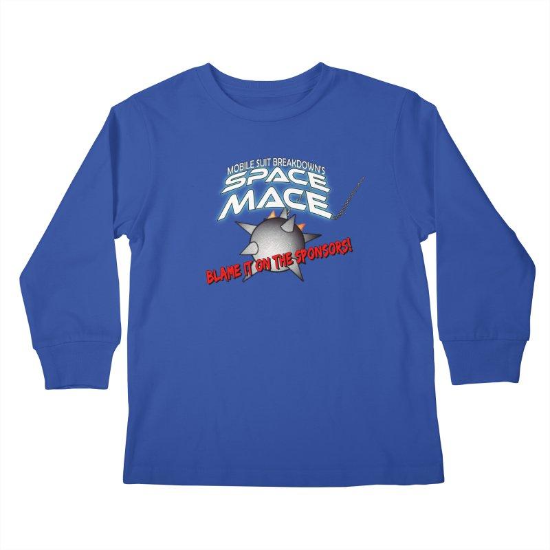 Mighty Space Mace Kids Longsleeve T-Shirt by Mobile Suit Breakdown's Shop