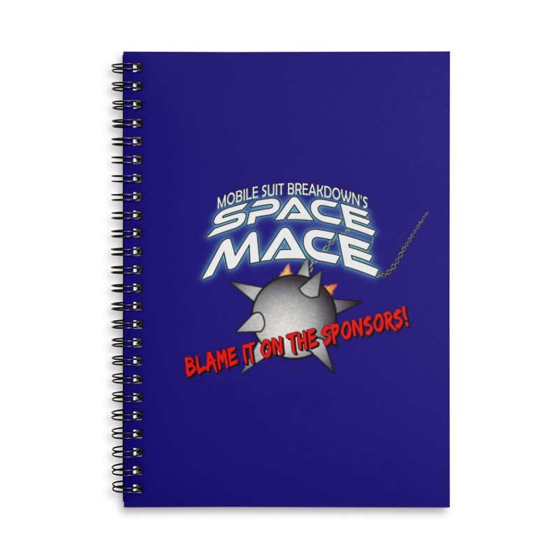 Mighty Space Mace Accessories Lined Spiral Notebook by Mobile Suit Breakdown's Shop