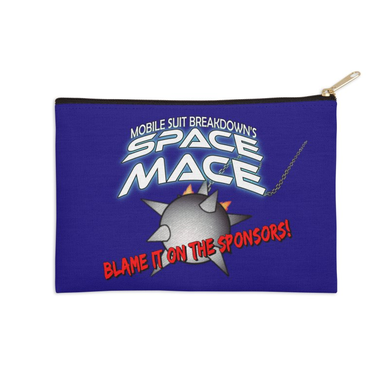 Mighty Space Mace Accessories Zip Pouch by Mobile Suit Breakdown's Shop
