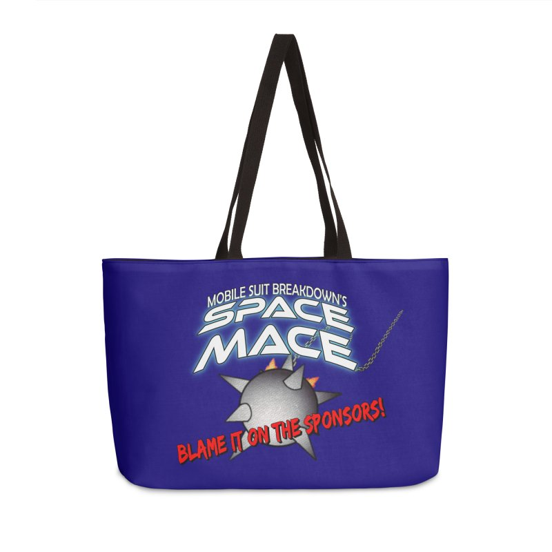 Mighty Space Mace Accessories Weekender Bag Bag by Mobile Suit Breakdown's Shop