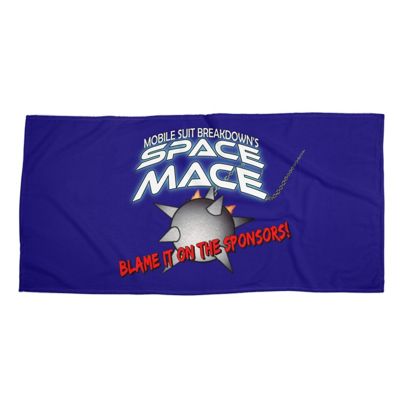 Mighty Space Mace Accessories Beach Towel by Mobile Suit Breakdown's Shop