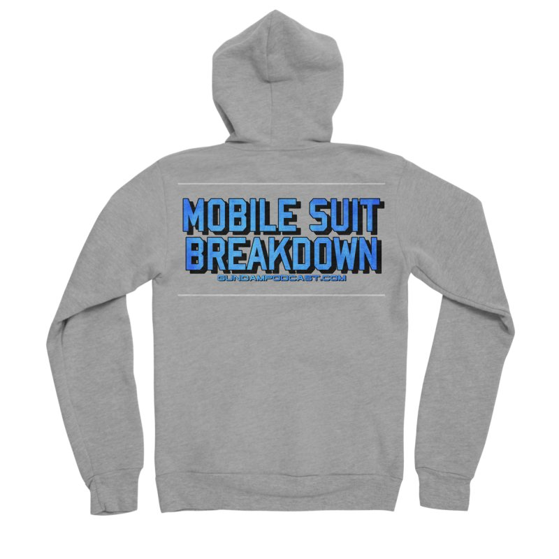 Mobile Suit Breakdown Men's Sponge Fleece Zip-Up Hoody by Mobile Suit Breakdown's Shop