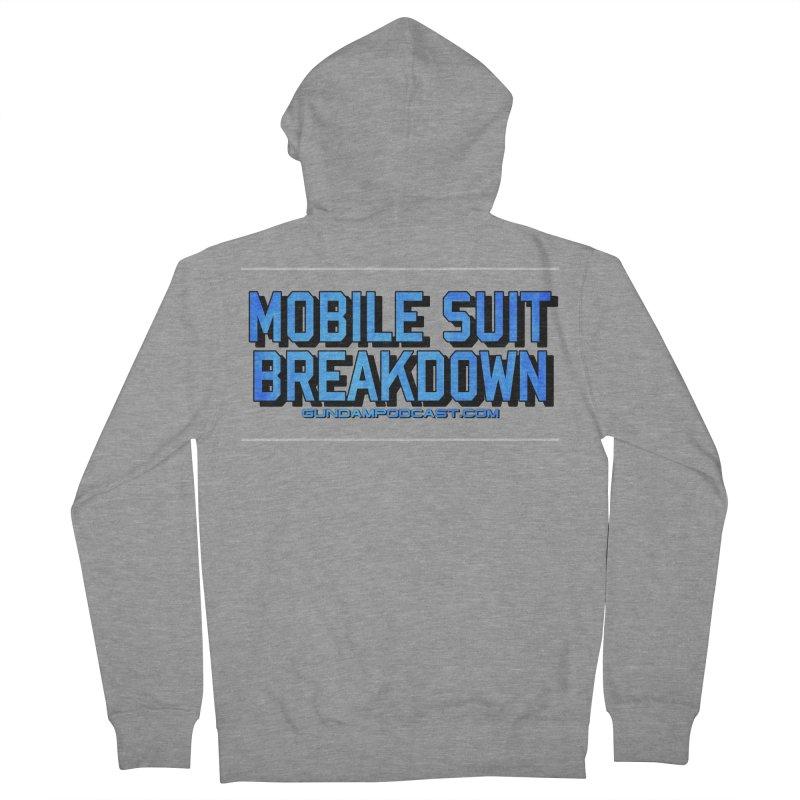 Mobile Suit Breakdown Men's French Terry Zip-Up Hoody by Mobile Suit Breakdown's Shop