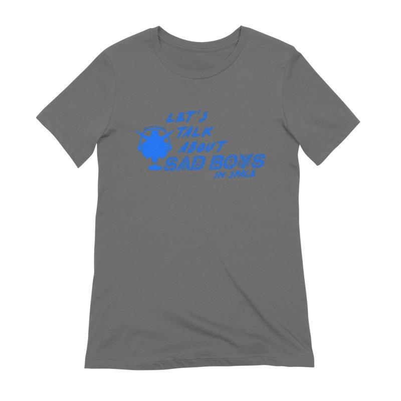 Sad Bois Blue Women's Extra Soft T-Shirt by Mobile Suit Breakdown's Shop