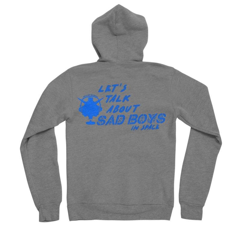 Sad Bois Blue Women's Sponge Fleece Zip-Up Hoody by Mobile Suit Breakdown's Shop