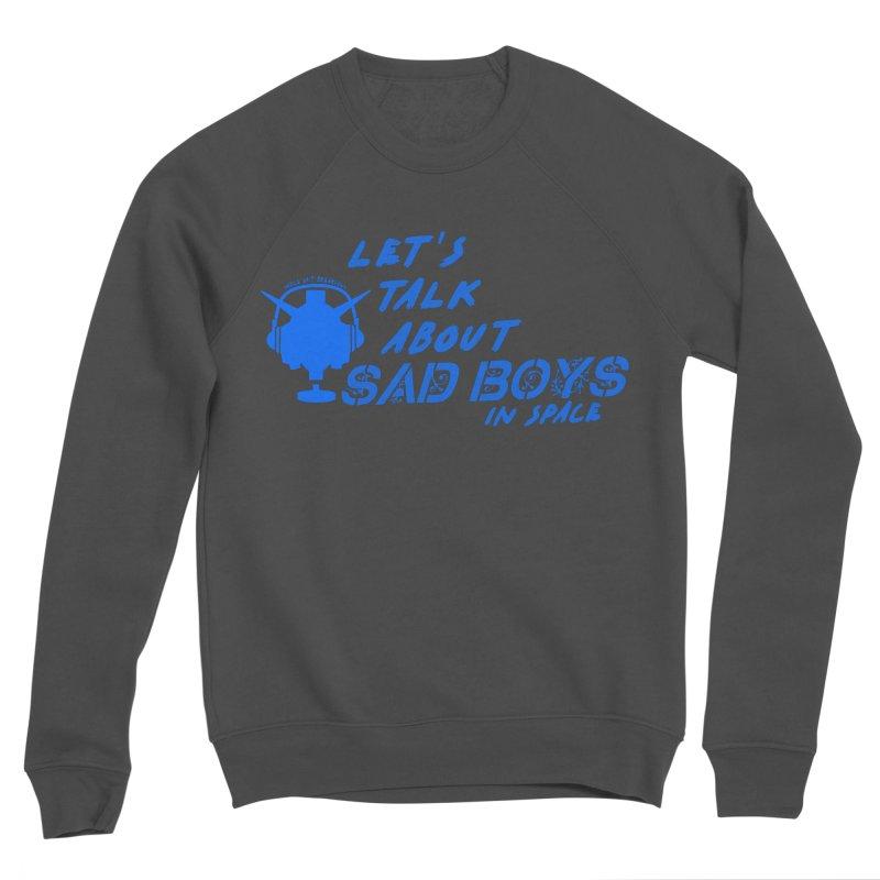 Sad Bois Blue Men's Sponge Fleece Sweatshirt by Mobile Suit Breakdown's Shop