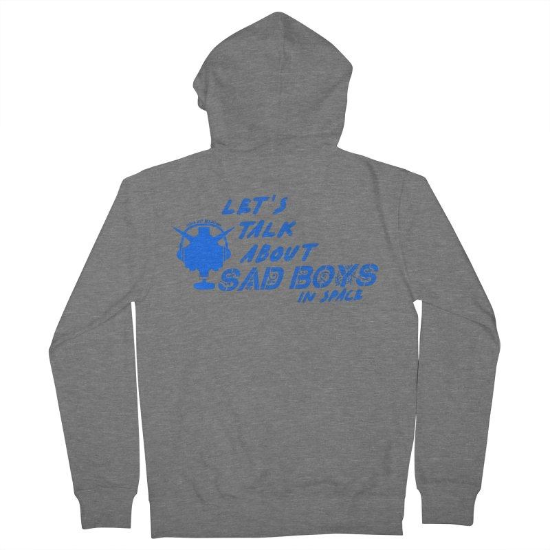 Sad Bois Blue Women's Zip-Up Hoody by Mobile Suit Breakdown's Shop