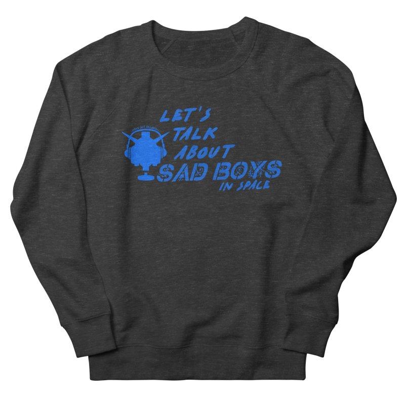 Sad Bois Blue Men's French Terry Sweatshirt by Mobile Suit Breakdown's Shop