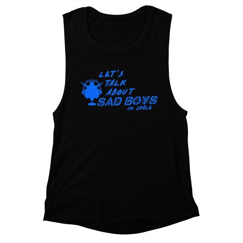 Sad Bois Blue Women's Muscle Tank by Mobile Suit Breakdown's Shop