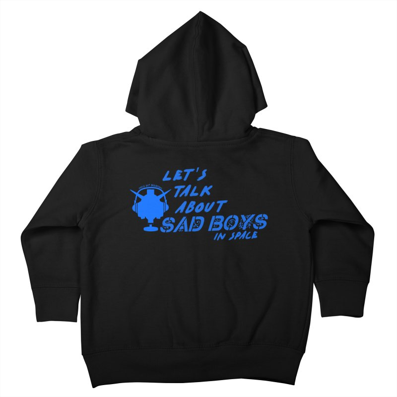 Sad Bois Blue Kids Toddler Zip-Up Hoody by Mobile Suit Breakdown's Shop