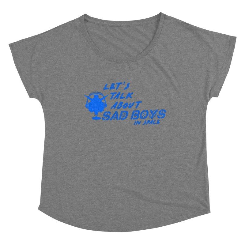 Sad Bois Blue Women's Scoop Neck by Mobile Suit Breakdown's Shop