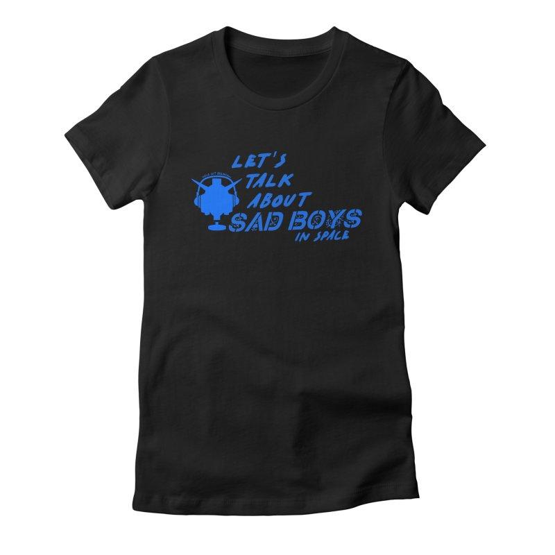 Sad Bois Blue Women's Fitted T-Shirt by Mobile Suit Breakdown's Shop
