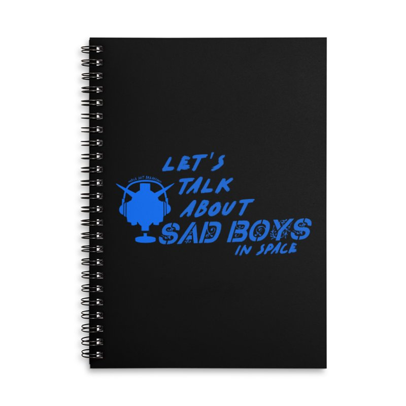 Sad Bois Blue Accessories Notebook by Mobile Suit Breakdown's Shop
